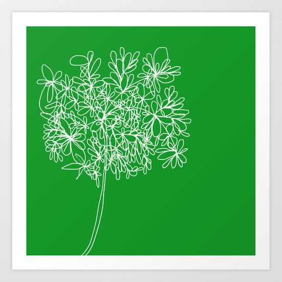 Blossom Pop Emerald Art Print