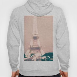 Paris, Eiffel Tower lights on pink Hoody