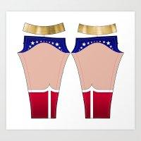 Superhero Leggings Art Print