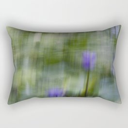 Tropical Impressionism (Purple Water Lily) Rectangular Pillow