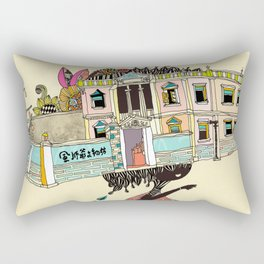 THE GIRL'S HAT Rectangular Pillow