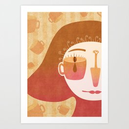Caffè Art Print