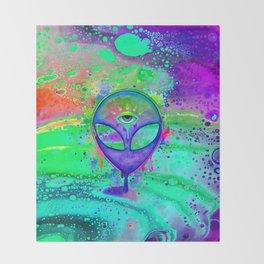 Alien Melt - purple Throw Blanket