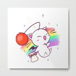 Moogle Rainbow Metal Print