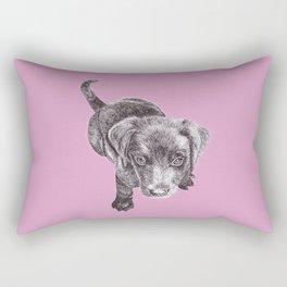 Labrador Puppy Rectangular Pillow