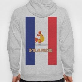 France cockerel travel poster Hoody