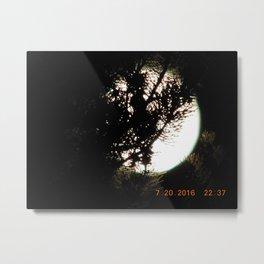 road trip, moon thru the trees, detail, moon, night, #3 Metal Print