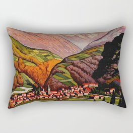 Allevard France - Vintage Travel Poster Rectangular Pillow