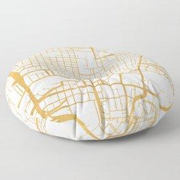 GLASGOW SCOTLAND CITY STREET MAP ART Floor Pillow