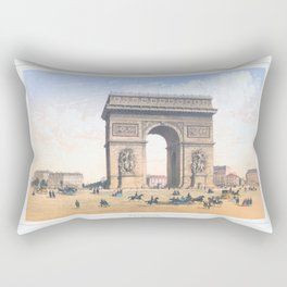 Paris art print Paris Decor office decoration vintage decor ARC DE TRIOMPHE of Paris Rectangular Pillow