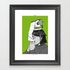 PAPER HAT Framed Art Print