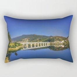 Bridge across Cavado river (Color). Geres National Park, Portugal Rectangular Pillow