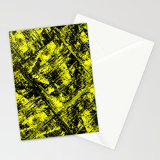 Amazing Yellow - fluid cubism Stationery Cards