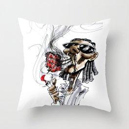 Snoop Dogg (aka. Snoop Lion) Major Blaze Throw Pillow