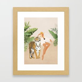 The Lady and the Tiger Framed Art Print