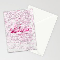 I Miss You. Talk to Me. Stationery Cards