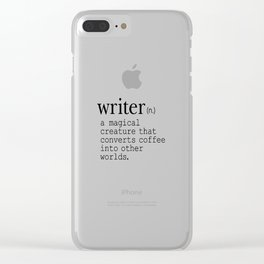 Writer Definition - Converting Coffee Clear iPhone Case