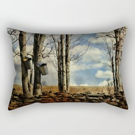 Collecting Sap Rectangular Pillow