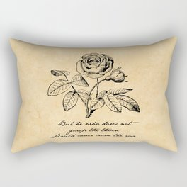 Anne Bronte - Crave the Rose Rectangular Pillow