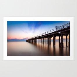 Sunset over Felixstowe Pier Art Print