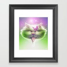 Kitty: The Monarch Framed Art Print