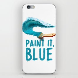 Paint It, Blue iPhone Skin