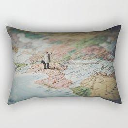 Travel addict Rectangular Pillow