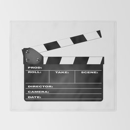 Clapperboard Throw Blanket