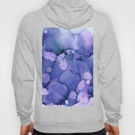 Meandering Blue Abstract Painting Hoody