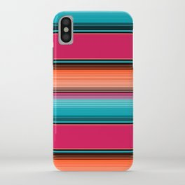 Traditional Mexican Serape in Teal iPhone Case