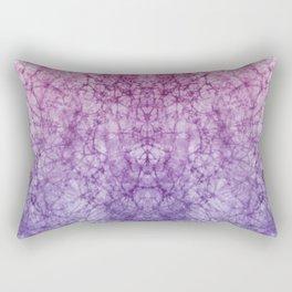 Tie-Dye Pink to Blue Rectangular Pillow
