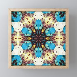 intergalaxial mandala Framed Mini Art Print