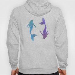 blue & purple mermaid Hoody