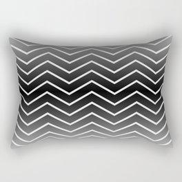 Fat Thin Chevrons Dove White Rectangular Pillow