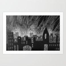 black city Art Print