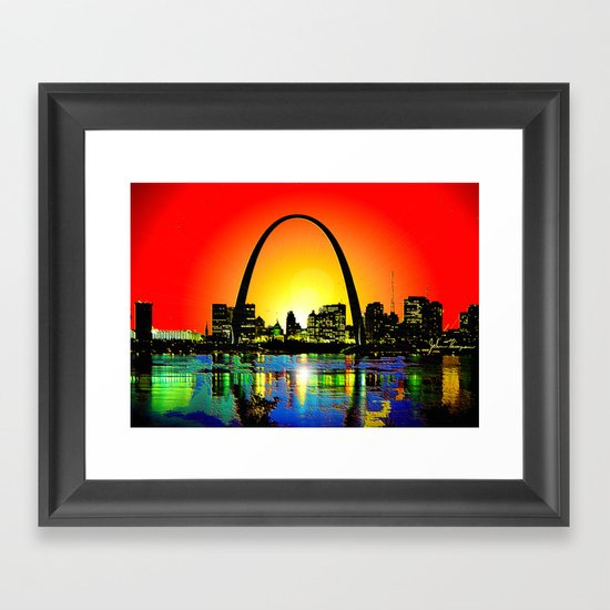 Saint Louis Arch Framed Art Print