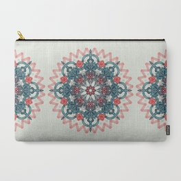 Coral & Teal Tangle Medallion