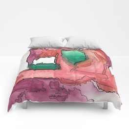 My Own Hot Air Balloon Abstract Watercolor Painting Comforters