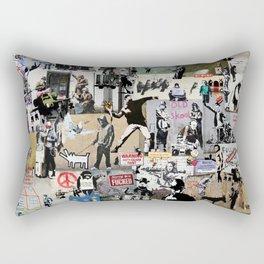 Banksy Collage Rectangular Pillow