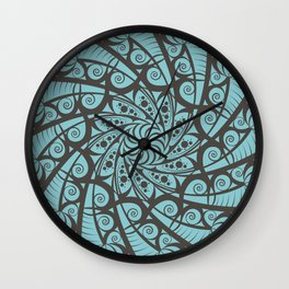Shell Mandala Wall Clock