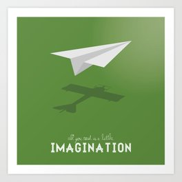 Never Forget to Play - Paper Plane Art Print