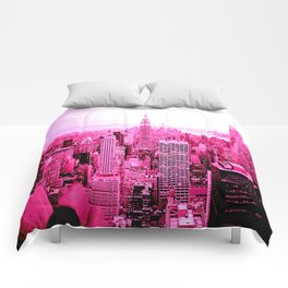 New York City Pink Comforters