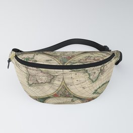 Vintage Map of the world Fanny Pack