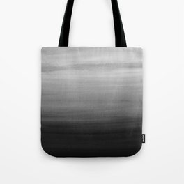 Touching Black Gray White Watercolor Abstract #1 #painting #decor #art #society6 Tote Bag