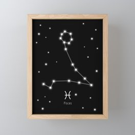 Pisces Star Constellation Framed Mini Art Print