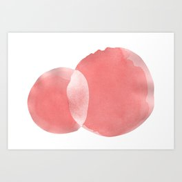 Minimal Pink Abstract 06 Art Print