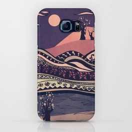 Psychedelic mountains (colour option) iPhone Case