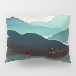 Indigo Mountains Pillow Sham