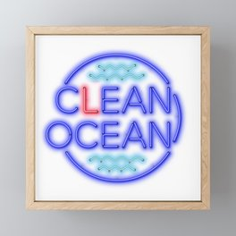 Clean Ocean – Solo Framed Mini Art Print