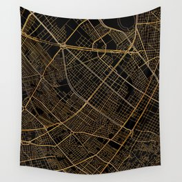 Bogota map, Colombia Wall Tapestry
